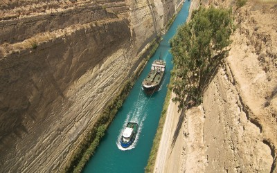 Golf von Korinth – Standort Bus-Schiffsreise