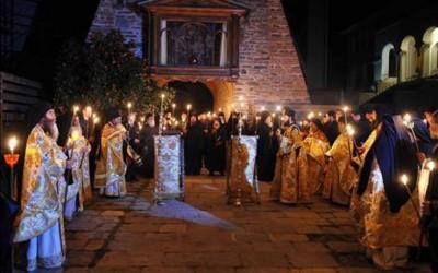 Griechenland zum orthodoxen Osterfest